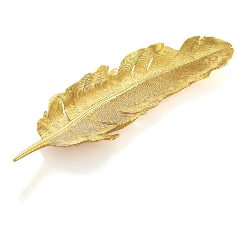 Michael Aram Feather Tray Gold 133251