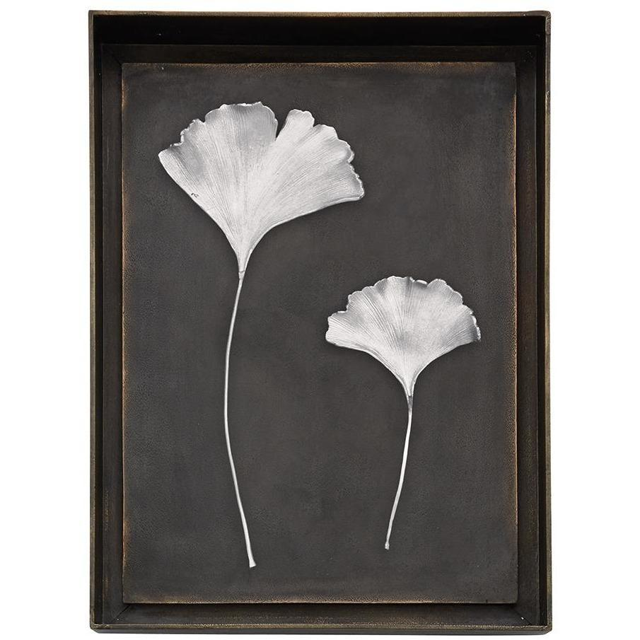 Michael Aram Ginkgo Leaf Shadow Box Antique Nickel 176065