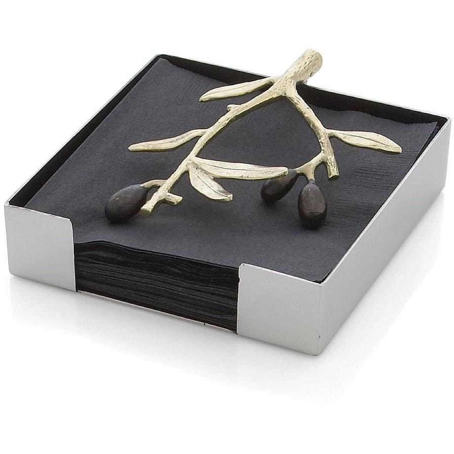 Michael Aram Olive Branch Gold Cocktail Napkin Holder 175136