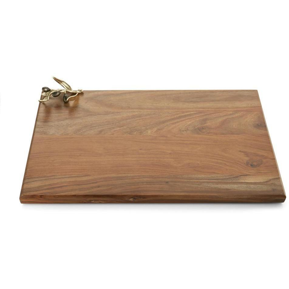 Michael Aram Olive Branch Gold Oversized Wood Serving Board 175204