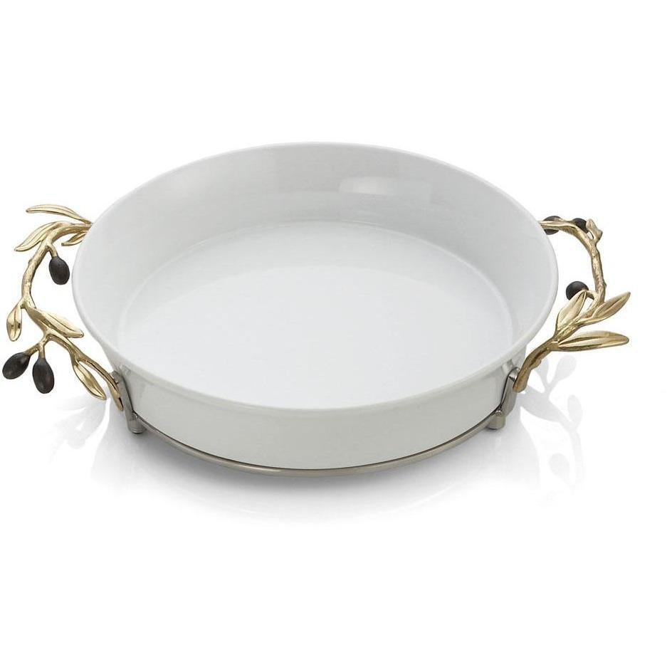 Michael Aram Olive Branch Gold Pie Dish 175235