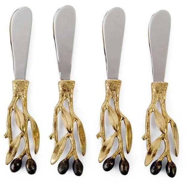 Michael Aram Olive Branch Gold Spreader Set of 4 175201