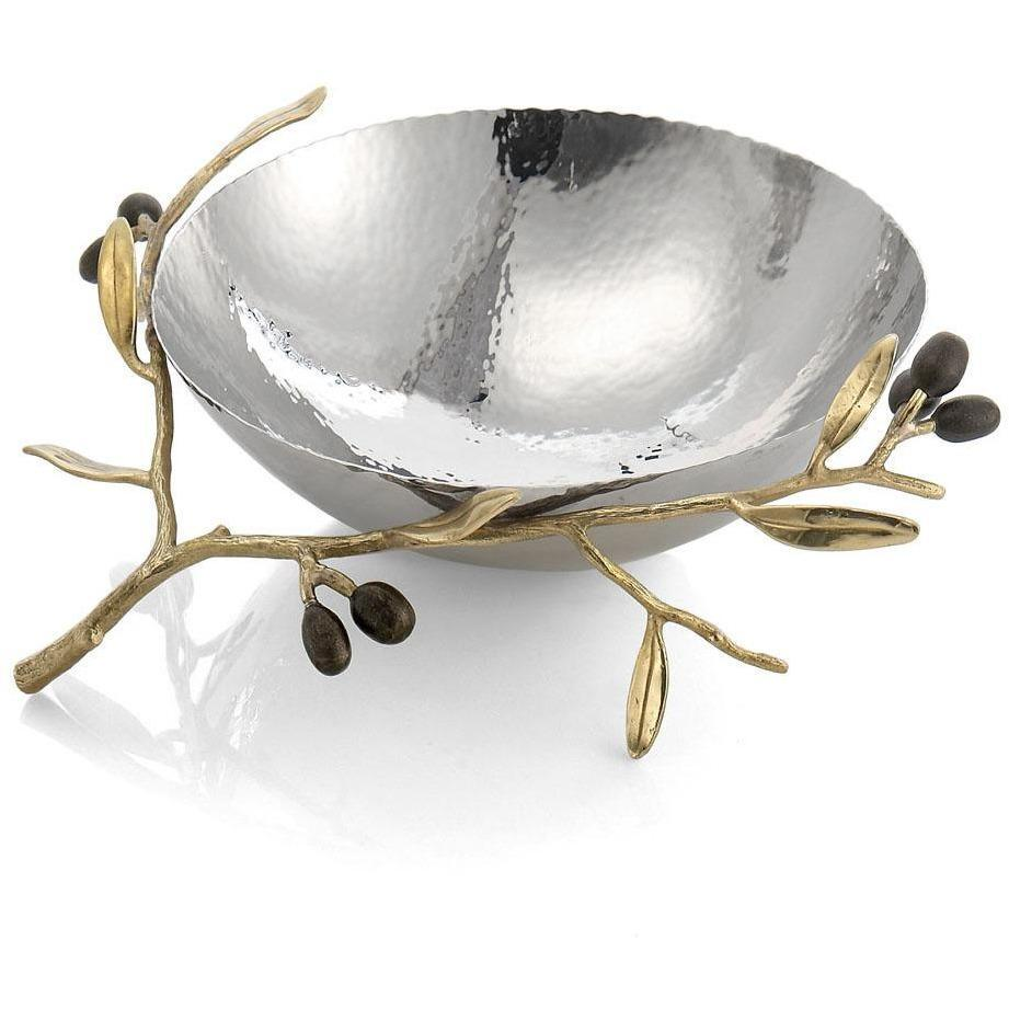 Michael Aram Olive Branch Gold Steel Bowl 175133