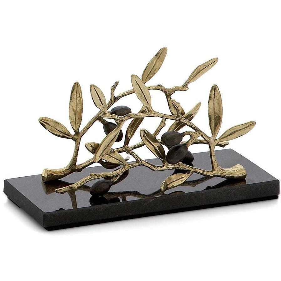 Michael Aram Olive Branch Gold Vertical Napkin Holder 175137