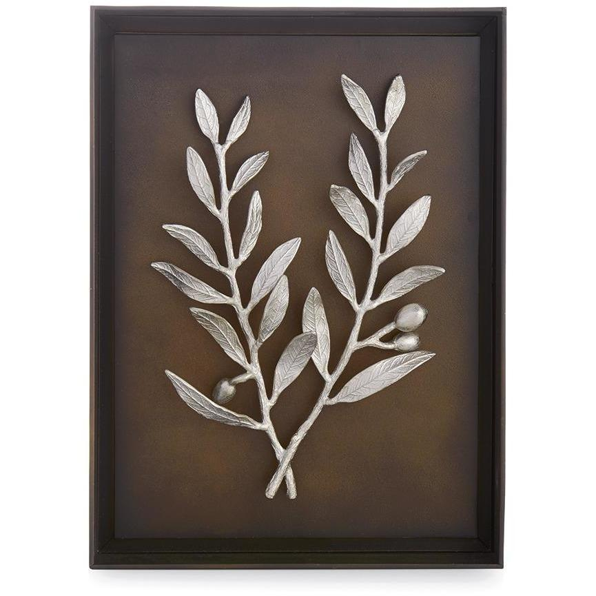 Michael Aram Olive Branch Shadow Box Antique Nickel 176080