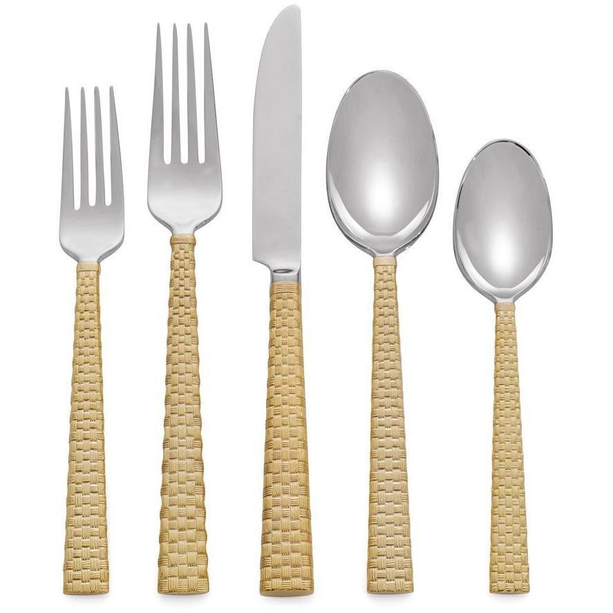 Michael Aram Palm Gold 5-Piece Flatware Set 325109