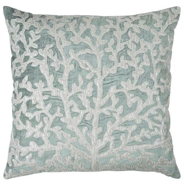 Michael Aram Tree of Life Applique Pillow Seafoam & Silver 2M00720XSE