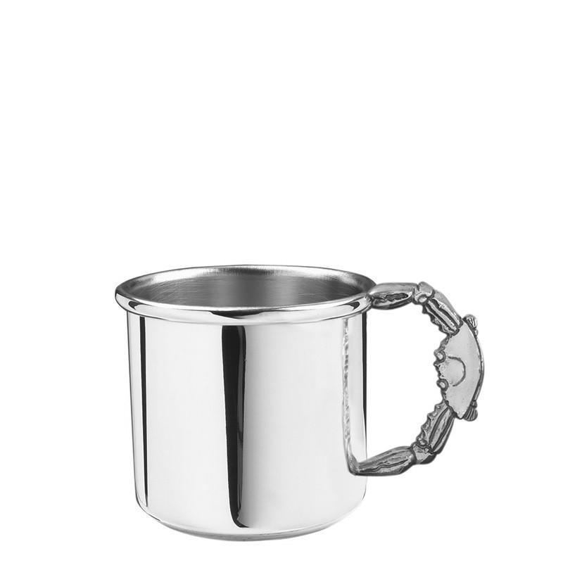 Salisbury Pewter Crab Handle Baby Cup 5 oz SCSE-CR