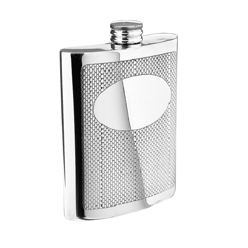 Salisbury Pewter Embossed Flask RCF-E