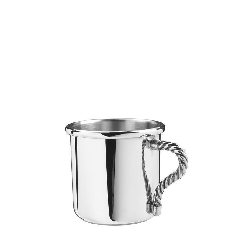 Salisbury Pewter Rope Handle Baby Cup 5 oz SCRHBC