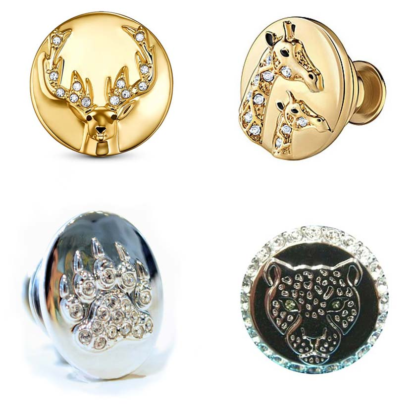 Swarovski Crystal Collector Pins Set of 4