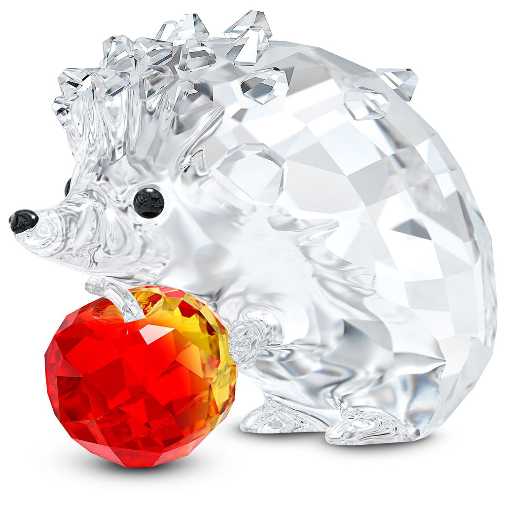 Swarovski Crystal Hedgehog With Apple Figurine 5532203