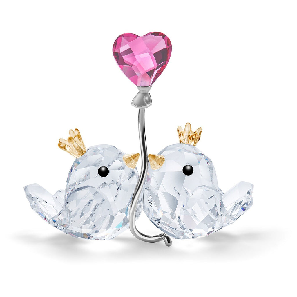 Swarovski Crystal Love Birds Pink Heart Figurine 5492226