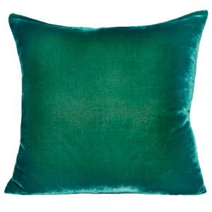 "Kevin O'Brien Ombre Velvet 22"" Pillow Teal Color"