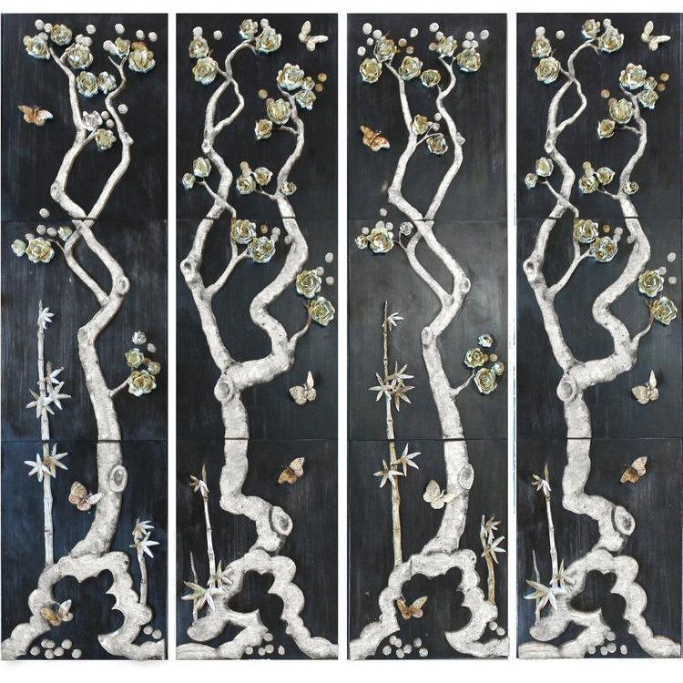Tommy Mitchell Asian Panel Set Antique White 000AIPAW