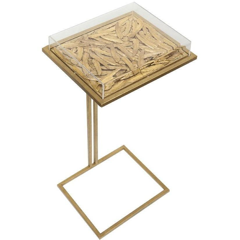 Tommy Mitchell Feather Cocktail Table Small Gilded 000SCTF