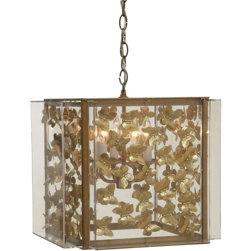 Tommy Mitchell Gilded Butterfly Chandelier Small 000MBCG-S