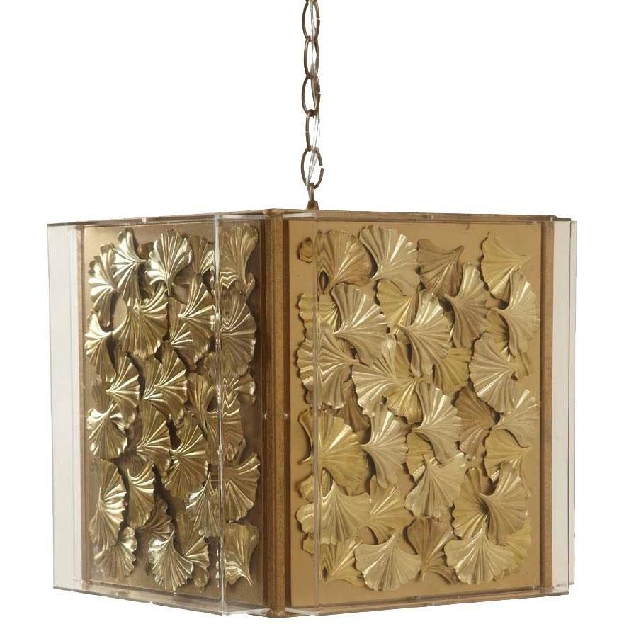 Tommy Mitchell  Gilded Gingko Chandelier Small 000MGCG-S