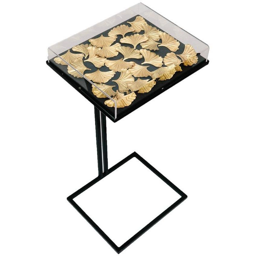Tommy Mitchell  Gilded Ginko Cocktail Table Large Black 000LBGT
