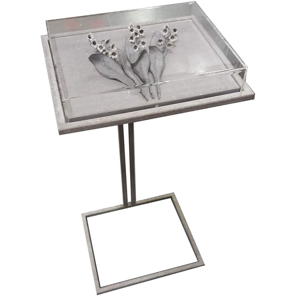 Tommy Mitchell Lily of the Valley Cocktail Table Small Zinc 00SCZLV