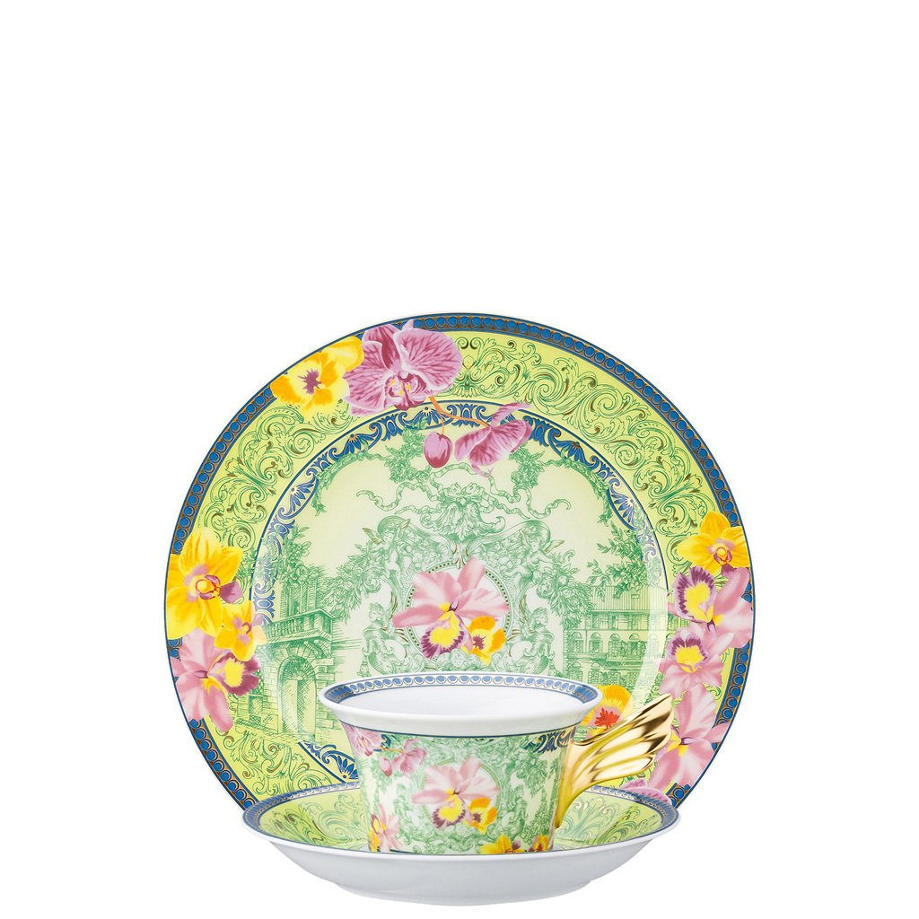 Verasce 25 Years D.V. Floralia Tea Cup Tea Saucer & Dessert Plate Set 3 pieces 19300-409981-28604