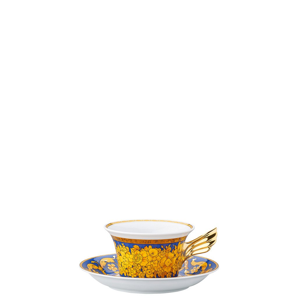 Versace 25 Years Floralia Blue Tea Cup & Tea Saucer 19300-409976-28599