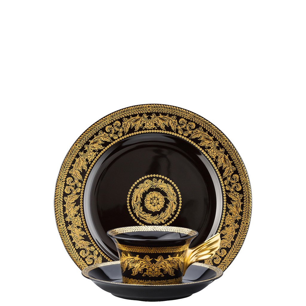 Versace 25 Years Gold Baroque Tea Cup Tea Saucer & Dessert Plate Set 3 pieces 19300-105071-28604