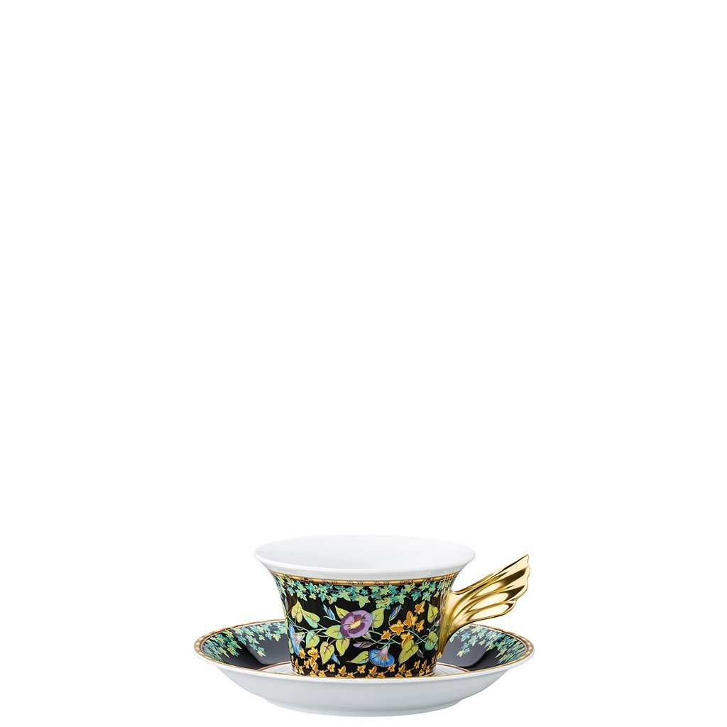 Versace 25 Years Gold Ivy Tea Cup & Tea Saucer 19300-409611-28599