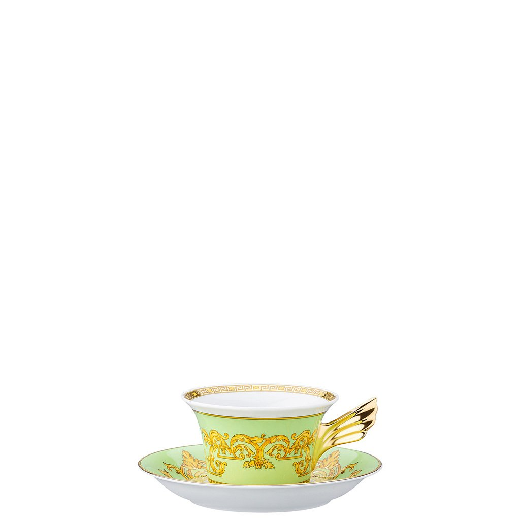 Versace 25 Years Green Floralia Tea Cup & Tea Saucer 19300-409979-28599