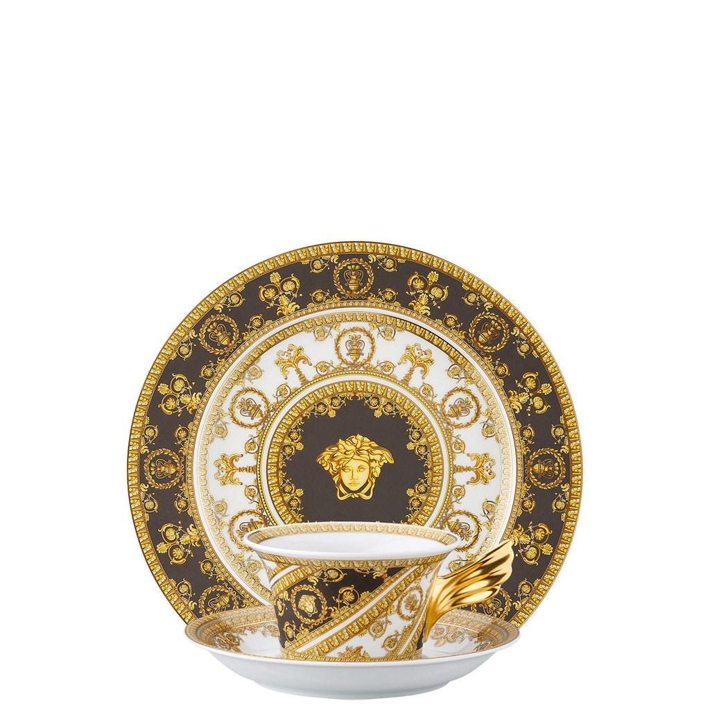 Versace 25 Years I Love Baroque Tea Cup Tea Saucer & Dessert Plate Set 3 pieces 19300-403651-28604