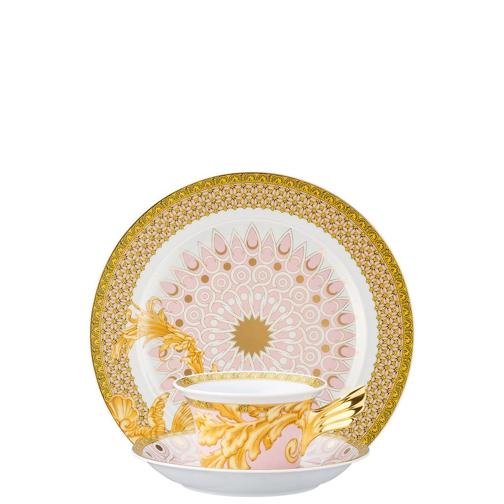 Versace 25 Years Les Reves Byzantins Tea Cup Tea Saucer & Dessert Plate Set 3 pieces 19300-403624-28604