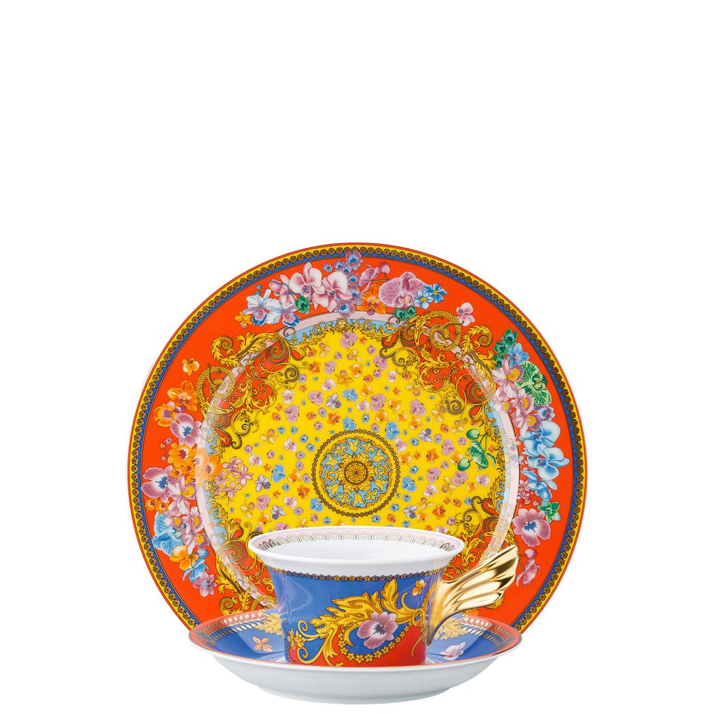 Versace 25 Years Primavera Tea Cup Tea Saucer & Dessert Plate Set 3 pieces 19300-403607-28604