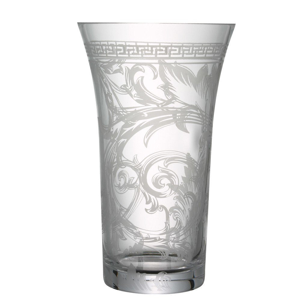 Versace Arabesque Clear Vase Crystal 13.5 inch 69955-320319-47034