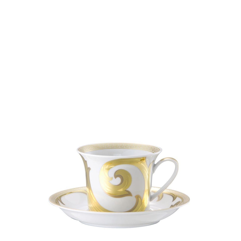 Versace Arabesque Gold Cappuccino Cup & Saucer 6 inch 8 ounce 19315-409629-14765