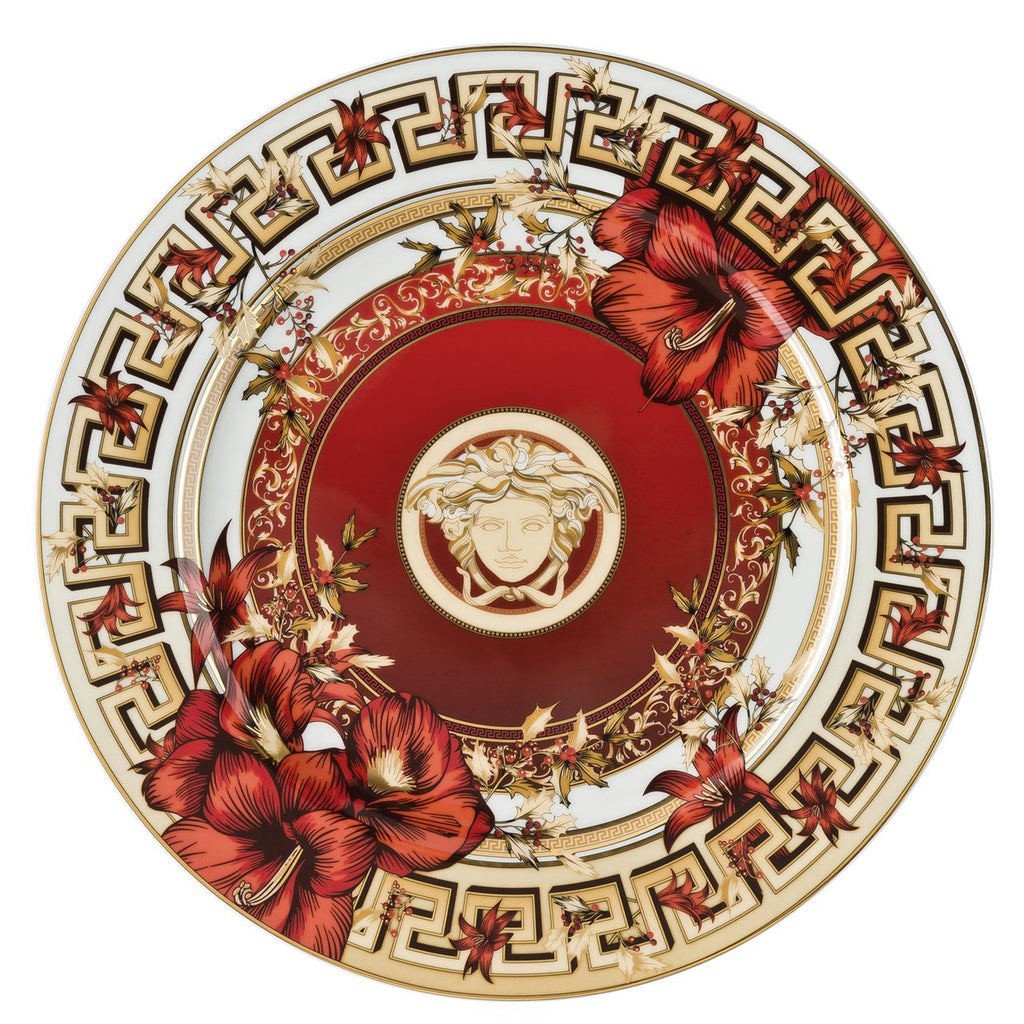 Versace Christmas Blooms Christmas Plate 11.75 inch 19305-409944-20021