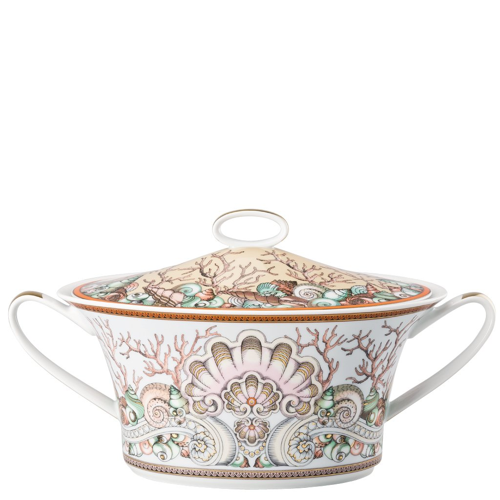 Versace Etoiles De La Mer Vegetable Bowl covered 54 ounce 10490-403647-11320