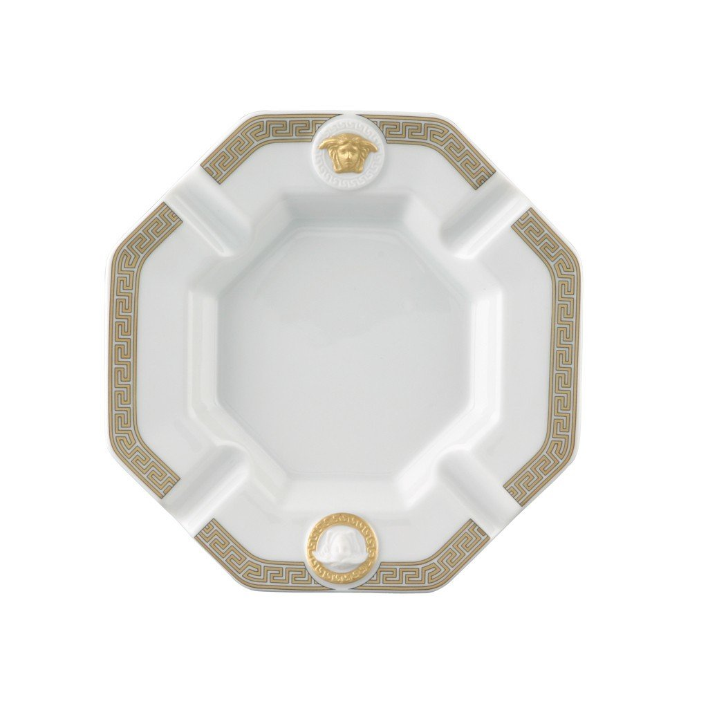 Versace Gorgona Ashtray Porcelain 5.5 inch 14095-102845-27233