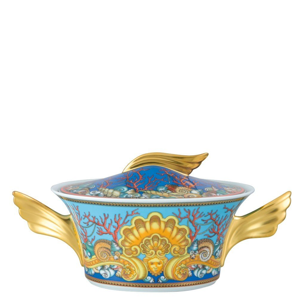Versace La Mer Vegetable Bowl Covered 54 ounce 19300-409608-11320