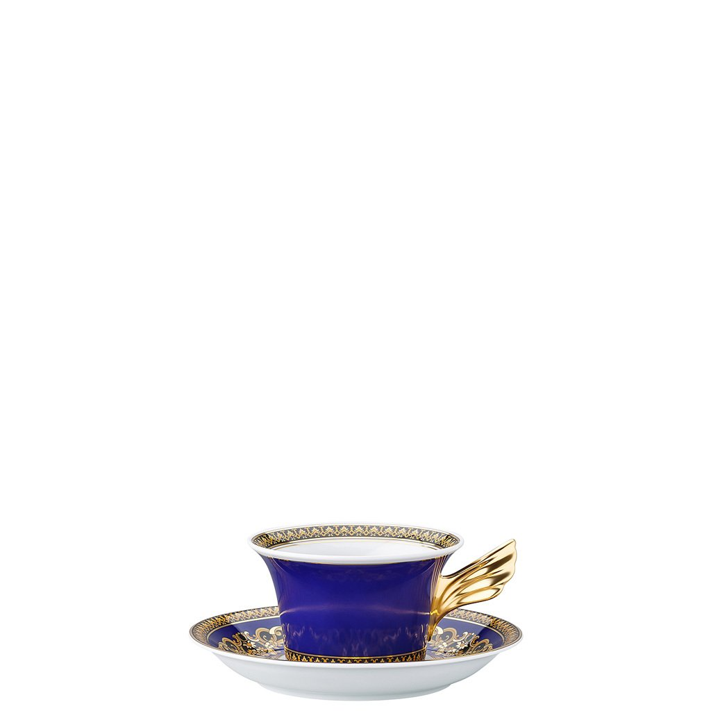 Versace Medusa Blue 25 Years Tea Cup & Tea Saucer 19300-409620-28599