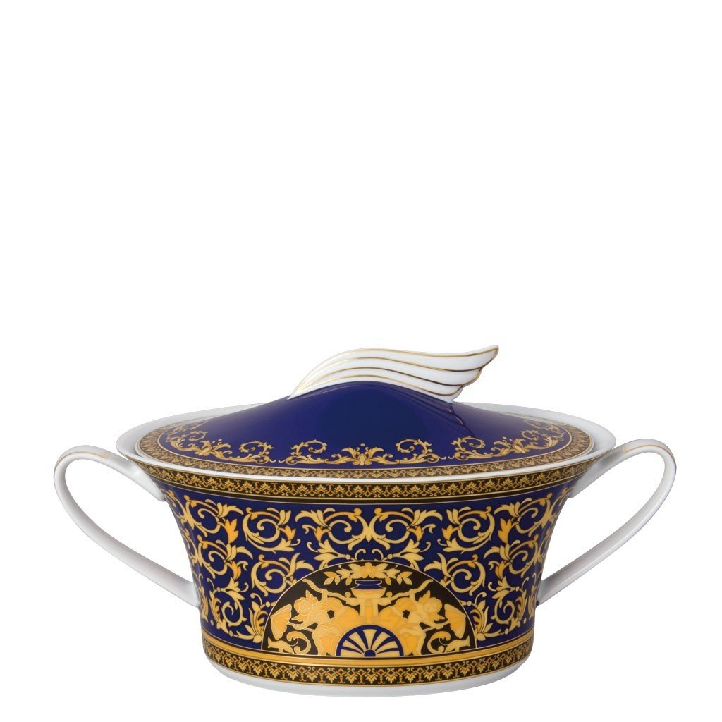 Versace Medusa Blue Vegetable Bowl Covered 54 ounce 19325-409620-11320
