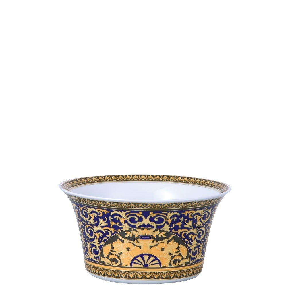 Versace Medusa Blue Vegetable Bowl Open 8 inch 19325-409620-13120