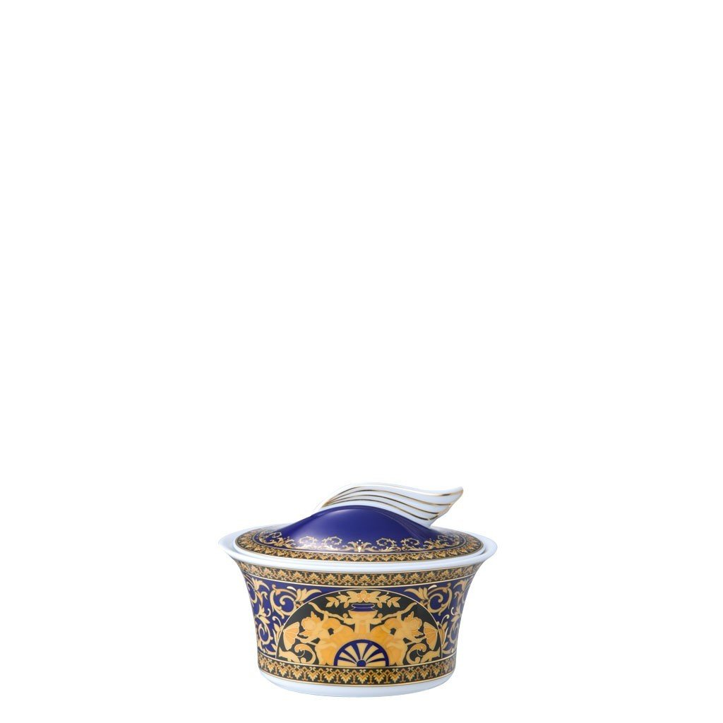 Versace Medusa Blue Sugar Bowl Covered 7 ounce 19325-409620-14330