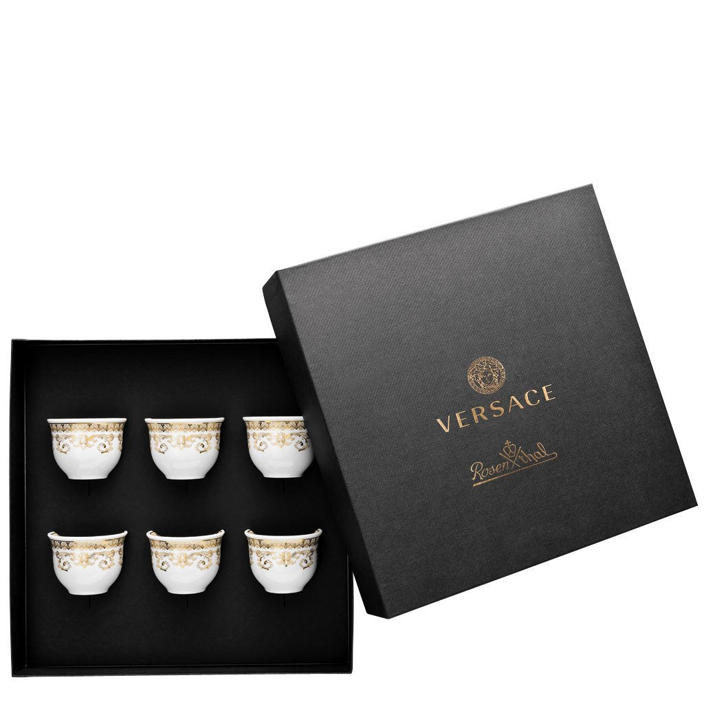 Versace Medusa Gala Set of 6 cups small without handle 14413-403635-28403