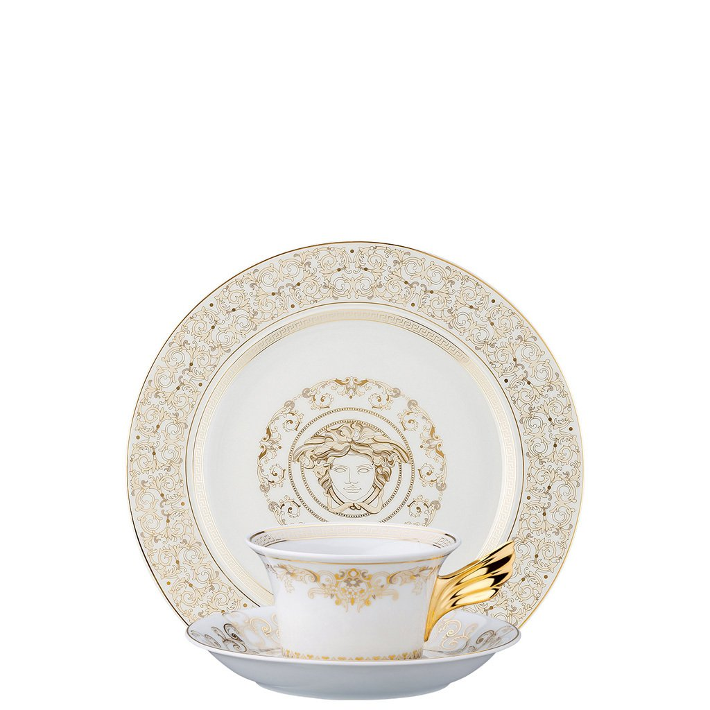 Versace Medusa Gala 25 Years Tea Cup Tea Saucer & Dessert Plate Set 3 pieces 19300-403635-28604