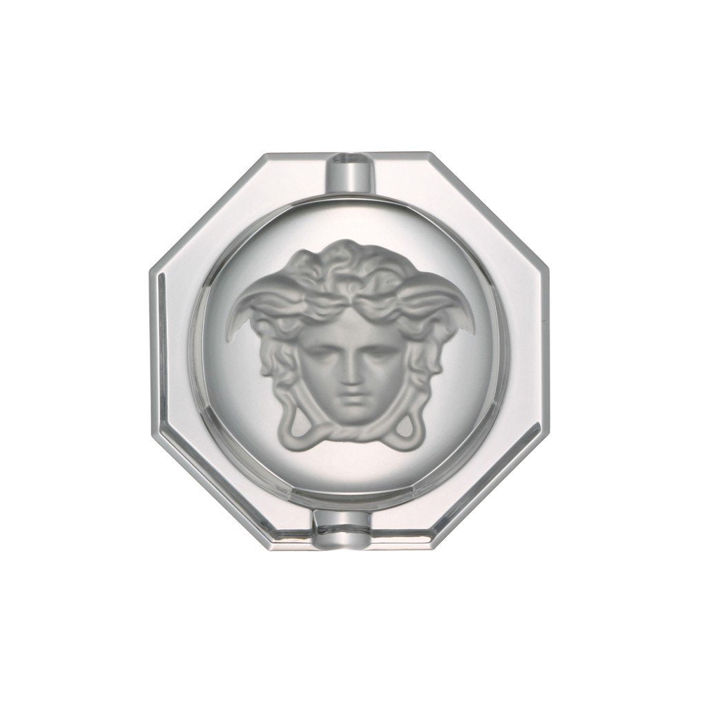 Versace Medusa Lumiere Ashtray Crystal 6.25 inch 20665-110835-47516
