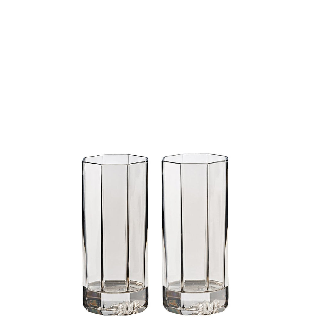 Versace Medusa Lumiere Haze Longdrink Glass set of two 8 ounce 20665-321392-48874