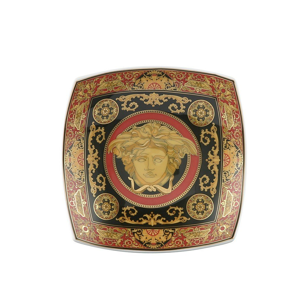 Versace Medusa Red Candy Dish Porcelain 5.5 inch 12116-102721-25814