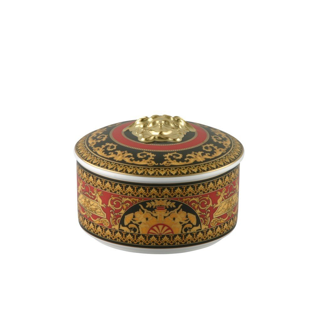 Versace Medusa Red Covered Box Porcelain 14092-102721-25120