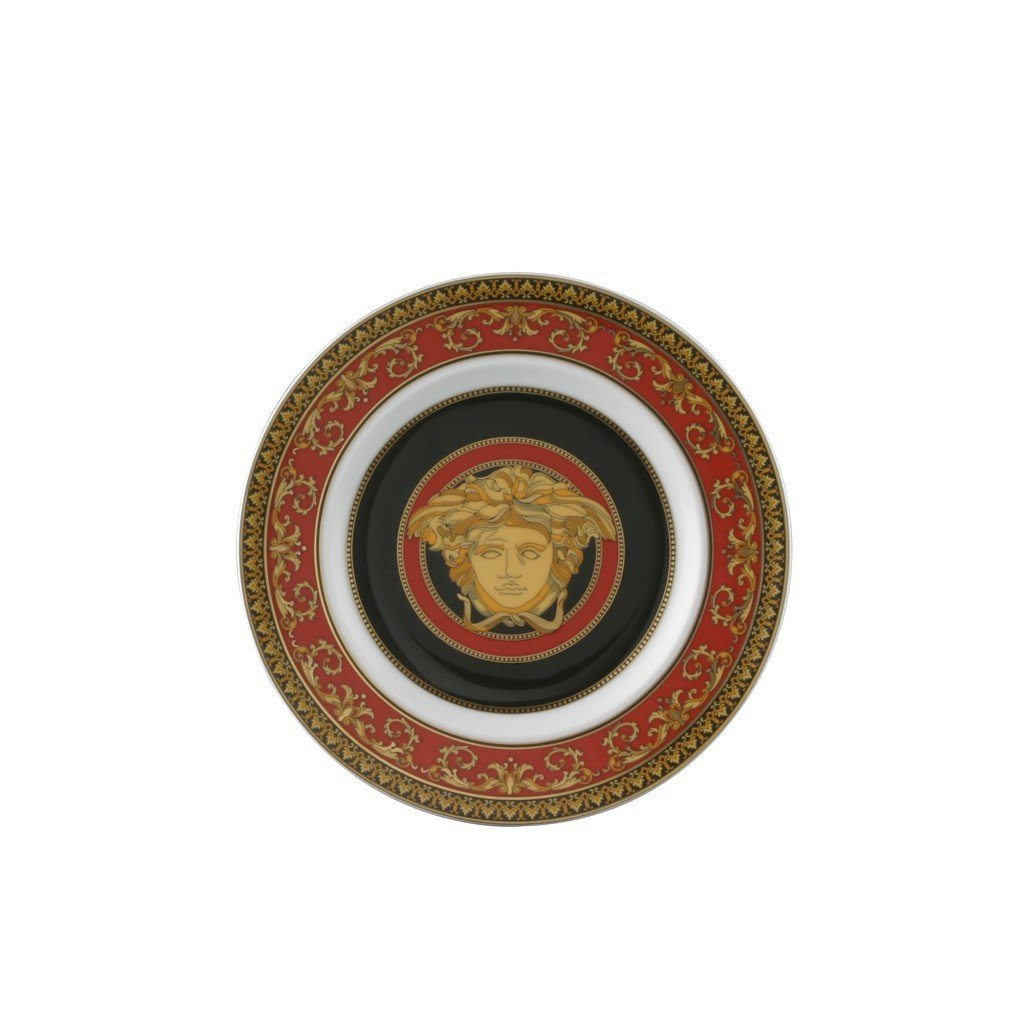 Versace Medusa Red Bread & Butter Plate 7 inch 19300-409605-10218