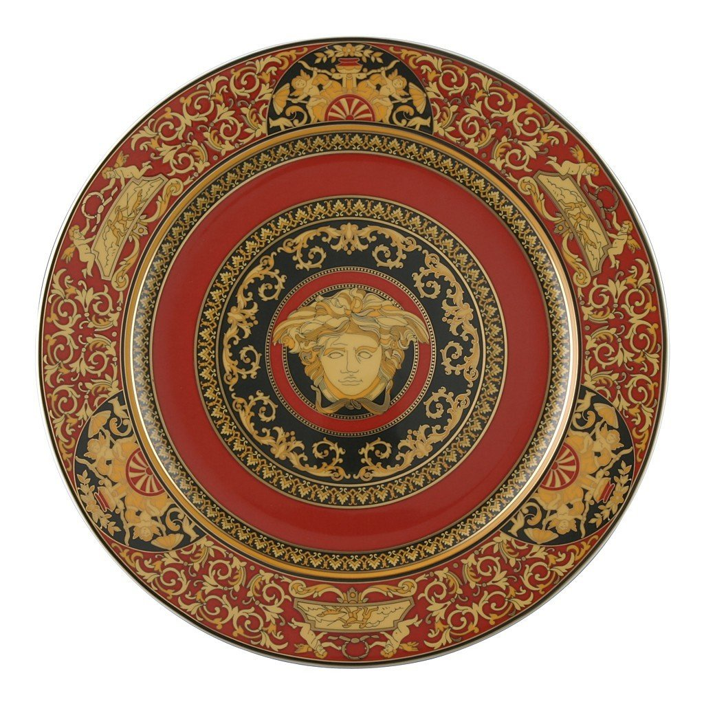 Versace Medusa Red Service Plate 12 inch 19300-409605-10230